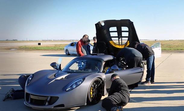 Hennessey Venom GT Video Speed-Record Geschwindigkeitsrekord Bugatti Veyron Super Sport