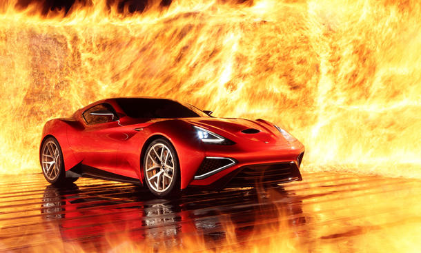 Icona Vulcano Supersportwagen Zwölfzylinder Studie Shanghai Motor Show 2013