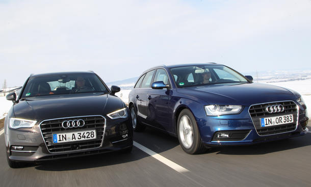 Konzept Vergleich Audi A4 Avant A3 Sportback