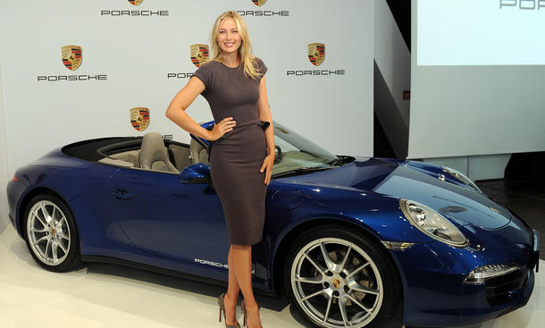 Maria Sharapova Porsche 911 Cabrio Markenbotschafterin Tennis