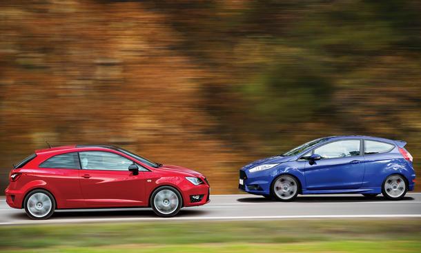 Vergleich Ford Fiesta ST Seat Ibiza Cupra Bilder