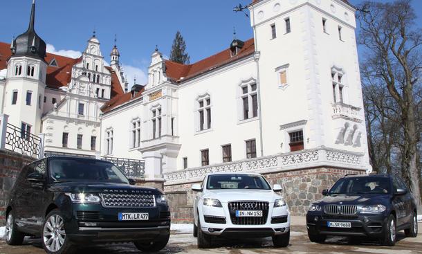 Vergleichstest Luxus-SUV Audi BMW Range Rover