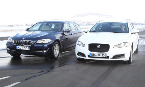 Vergleichstest Oberklasse Kombis BMW Jaguar