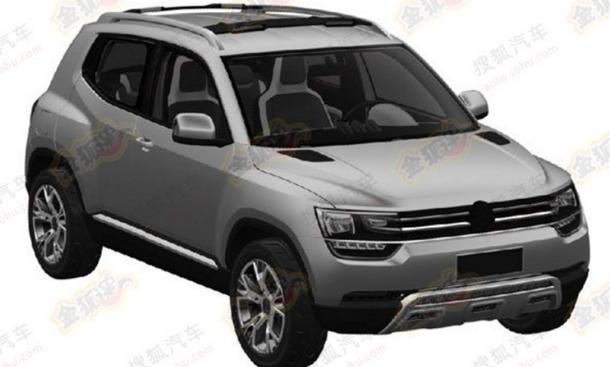 VW Taigun 2014 Up-SUV Studie Mini-SUV Patentzeichnungen Serienversion