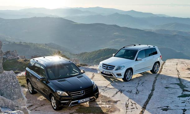 Vergleich Mercedes ML 350 BlueTEC 4MATIC GLK CDI SUV-Vergleich