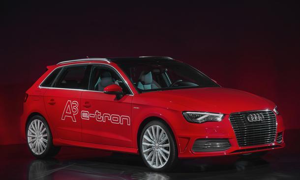 Audi A3 Sportback e-tron Plug-In-Hybrid 2013 Elektro-Motor Kompaktklasse Marktstart