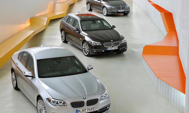 BMW 5er Facelift 2013 Limousine Touring GT Kombi F10 LCI