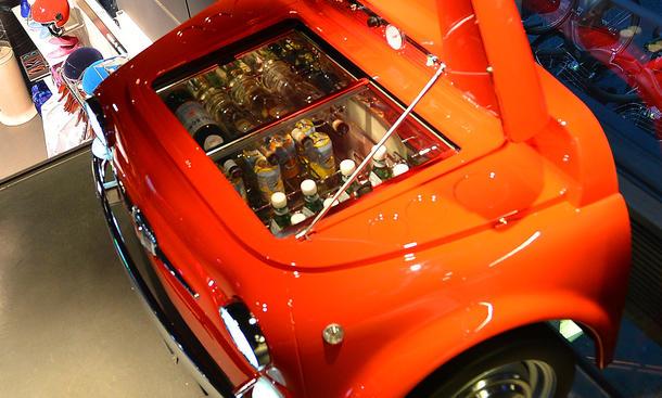 Fiat 500 Kuehlschrank SMEG Design Kult Fridge