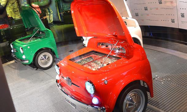 Kühlschrank In Auto : Fiat 500: kühlschrank im kleinwagen design von smeg autozeitung.de