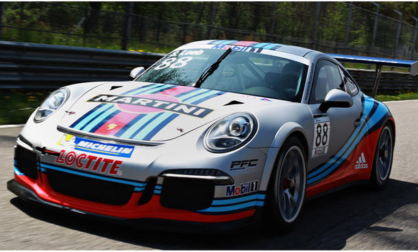 Martini Racing Porsche 911 GT3 Cup 2013 Mobil 1 Supercup