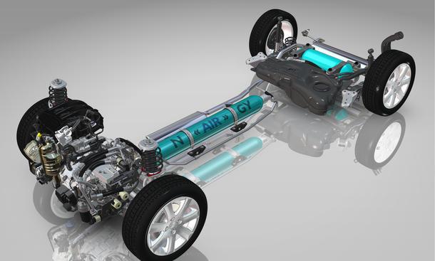 PSA Hybrid Air Peugeot Citroen Antrieb Druckluft Hydraulik