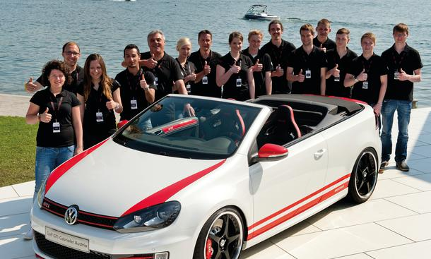 VW Golf GTI Cabrio Austria Studie GTI-Treffen am Wörthersee 2013 Azubis