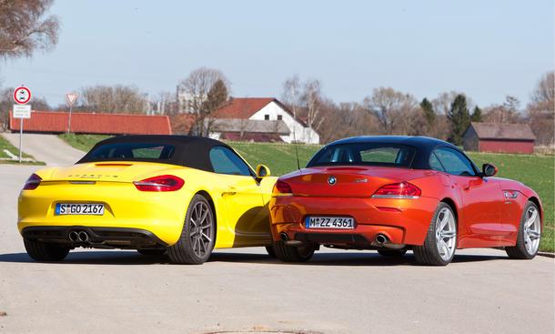 Roadster Vergleich 2013 Bmw Z4 Gegen Porsche Boxster S