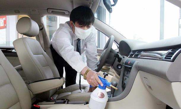 Reinigung Autogurt Sicherheitsgurt