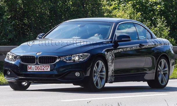 BMW 4er Cabrio 2014 Erlkoenig F33 Klappdach ungetarnt
