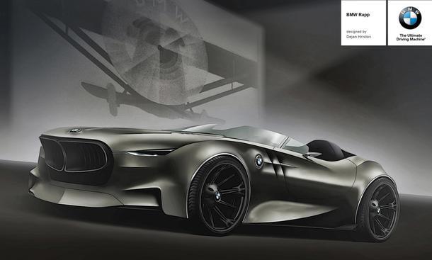 BMW Rapp Concept 2013 Design Studie Roadster Computer-Zeichnung Z4