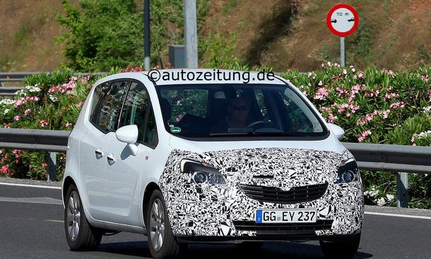 Erlkönig Opel Meriva Facelift 2014 Kompakt-Van Überarbeitung Motoren Design