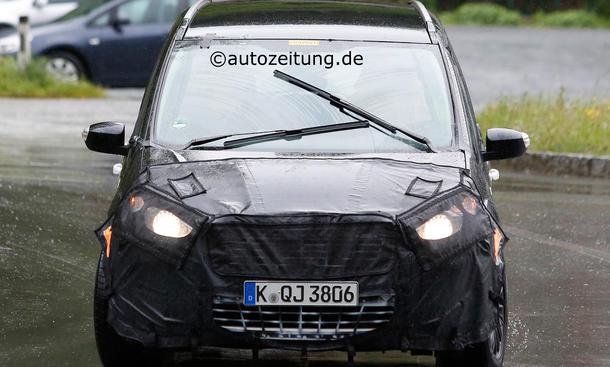 Ford Galaxy 2015 Mule Erlkönig Familien-Van Siebensitzer Valencia Ecoboost