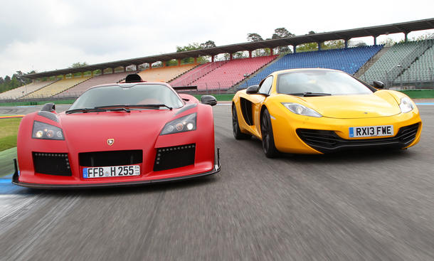 McLaren MP4-12C Spider Gumpert Apollo S Tracktest Vergleich 2013