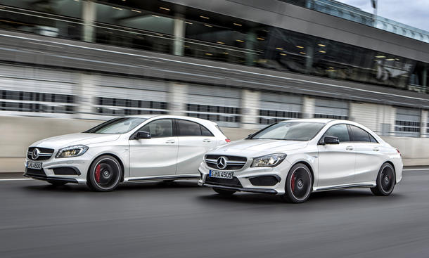 Mercedes CLA A 45 AMG Preis Kompakt-Sportler Viertüriges Coupé Sport-Version