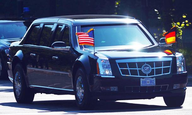 Cadillac: Obama mit Staatslimousine in Berlin | autozeitung.de