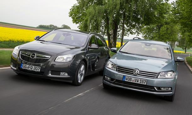 VW Passat Opel Insignia Kombi Marken-Vergleich 2013 Bilder und technische Daten