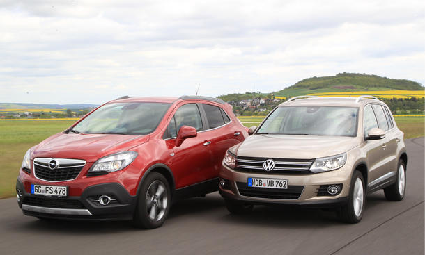 markenvergleich opel mokka 1 7 cdti 4x4 vs vw tiguan 2 0 tdi 4motion bmt. Black Bedroom Furniture Sets. Home Design Ideas