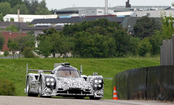 Porsche LMP1 Le Mans 2014 Rollout Testfahrt Prototyp