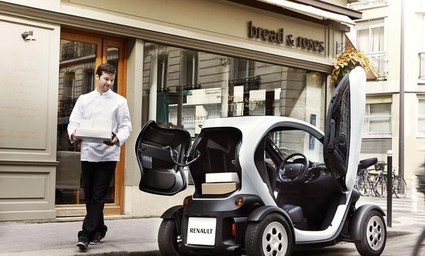 Renault Twizy Cargo 2013 Elektroauto Kofferraum Laderaum Hecktür Transportervariante Stadtauto