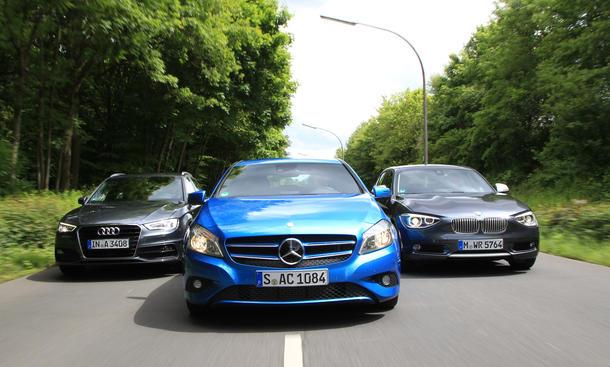 Vergleich Kompaktklasse Benzinverbrauch Mercedes A 180 BMW 116i 1er Audi A3 1.4 TFSI COD 2013