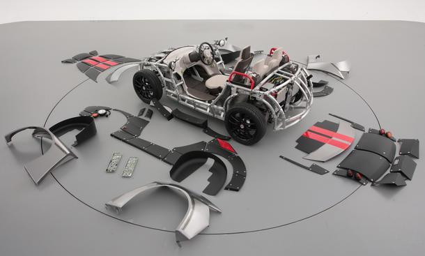 Toyota Camatte57s Studie Kit-Car Concept Spielzeugmesse Tokio Toy Show 2013 Elektro Roadster