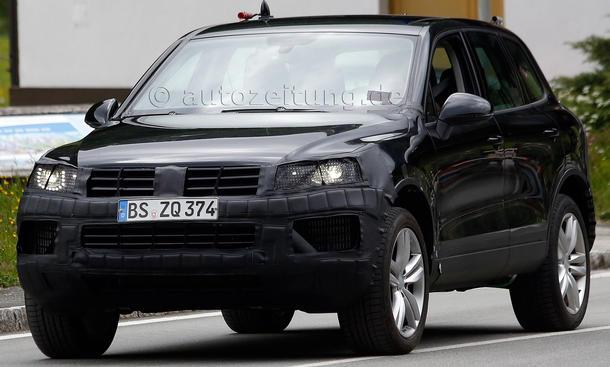 VW Touareg Facelift 2014 Erlkoenig 2.0 TDI Biturbo