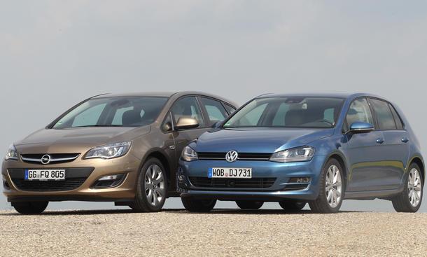 Vergleich Opel Astra VW Golf Kompaktklasse Bilder technische Daten