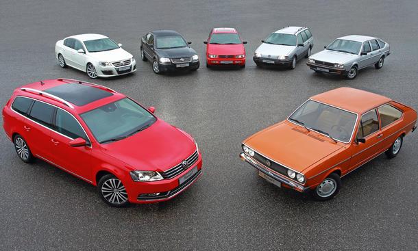 40 Jahre VW Passat Jubilaeum Geburtstag 2013 B1 B2 B3 B4 B5 B6 B7 CC