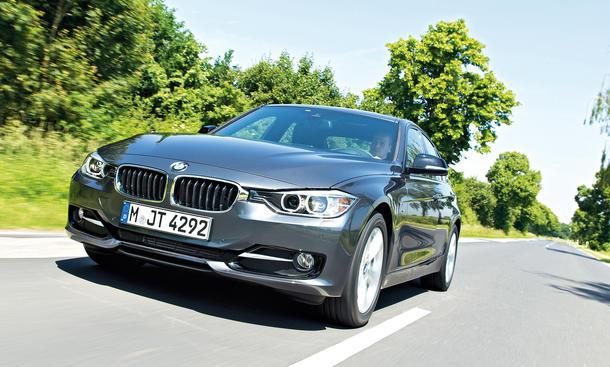 BMW 316d Mittelklasse-Limousine Test Diesel 3er Front