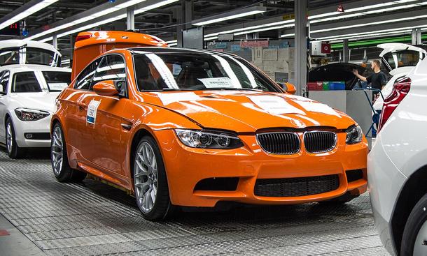 BMW M3 Produktionsende 2013 Coupe E92 letzter Produktion Ende