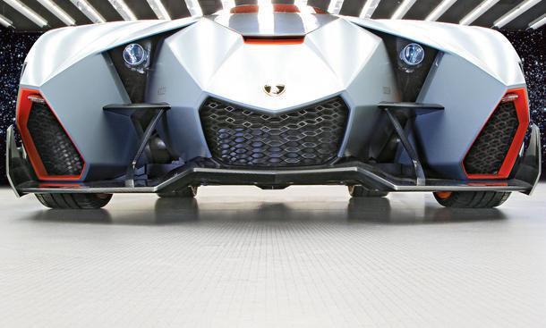 Lamborghini Egoista 2013 Studie Concept Car Walter de Silva Einsitzer Einsitzer Supersportwagen V10 Front