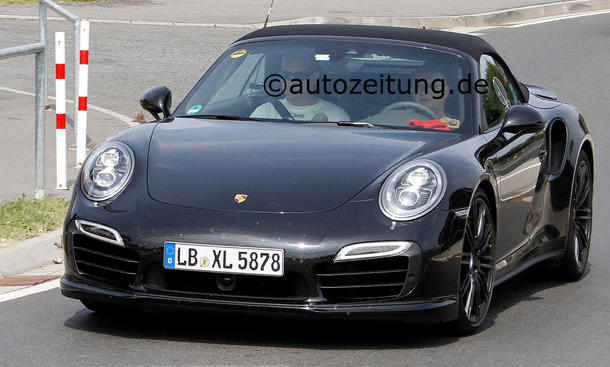 Erlkönig Porsche 911 Turbo Cabrio ungetarnt Supersportler Supersportwagen