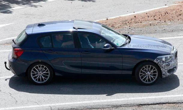 2014 BMW 1er Facelift Erlkoenig F20 LCI Dreizylinder