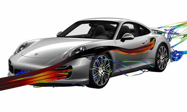 Porsche 911 Turbo 2013 Adaptive Aerodynamik Sportwagen Spoiler Front Heck