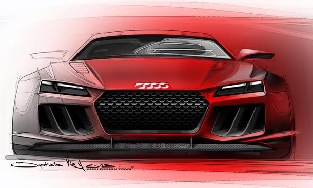 Audi Quattro Sport e tron 2013 IAA Studie Sportwagen Hybrid