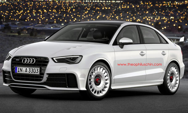 Audi RS 3 Limousine 2014 Kompakt-Sportler Vierzylinder-Turbo Front Rendering Theophilus Chin