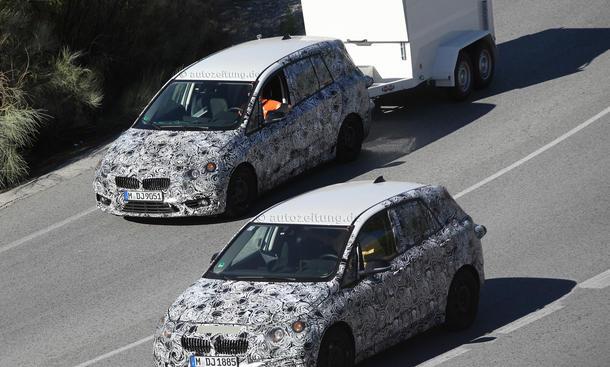 BMW 1er GT 2014 Van Erlkoenig Siebensitzer CAT Active Tourer