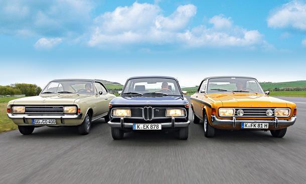Bilder BMW 2000 TII Ford 17M RS 2300 Opel Commodore 2500 Sport Mittelklasse Test