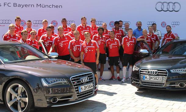 FC Bayern Fußballer Autos Audi 2013 Sponsoring Ingolstadt