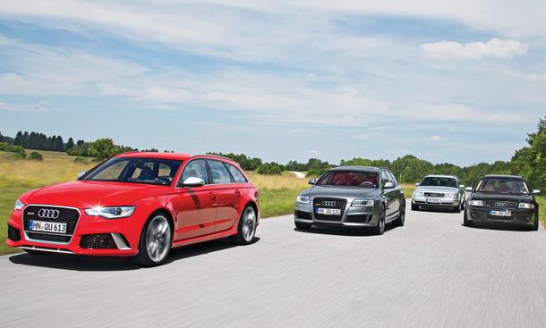Faszination Audi RS6 Plus Avant Generationen Vergleich