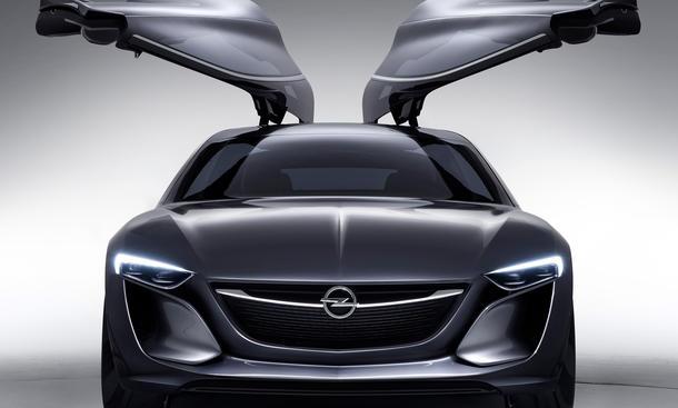 Opel Monza 2013 IAA Concept Fluegeltuerer Studie Fotos