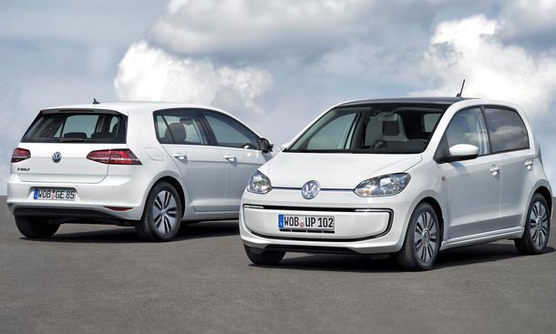 VW e-Golf e-up 2013 IAA Elektro-Auto Technik Technische Daten