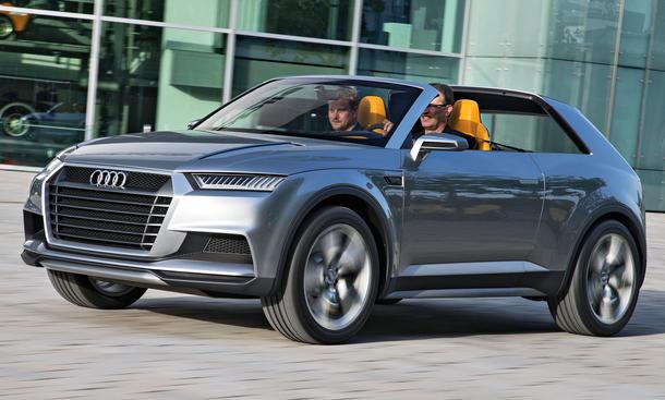 Audi Crosslane Concept 2013 Q1 Fahrbericht Studie Kompakt-SUV Hybrid Targa