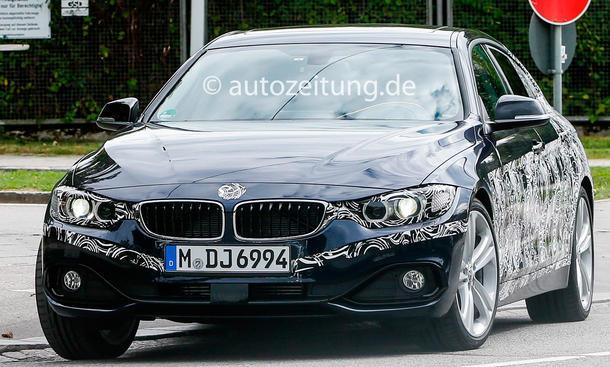 BMW 4er Reihe 4er Gran Coupé Erlkönig 2013 front
